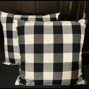 Farmhouse Buffalo Check Pillow Covers